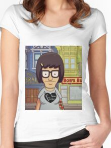 Hipster Tina Belcher Women's Fitted Scoop T-Shirt