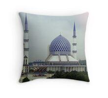 Mosque from my window - Kuala Lumpur Throw Pillow