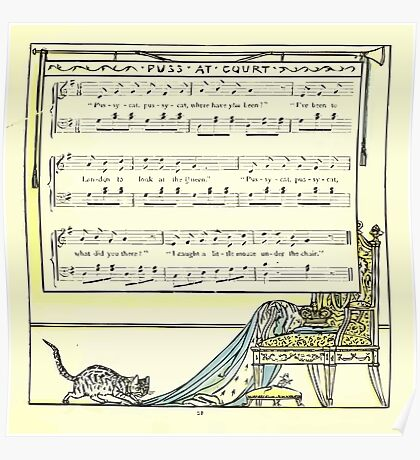 The Baby's Opera - A Book of Old Rhymes With New Dresses - by Walter Crane - 1900-25 Puss At Court Poster