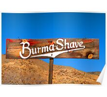 Burma Shave Poster