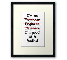 Good at maths Framed Print