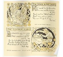 The Baby's Own Aesop by Walter Crane 1908-26 The Miser and His Gold, The Golden Eggs Poster