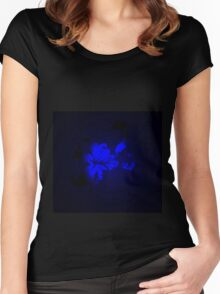 Mysterious Blue Irish Abstract Design Women's Fitted Scoop T-Shirt