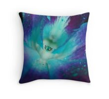 BLUE SINGAPORE ORCHID Throw Pillow