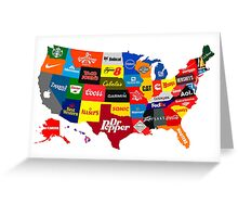 The Corporate States of America Greeting Card
