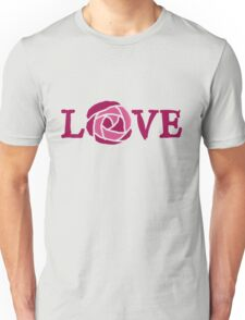 Love pink rose Unisex T-Shirt