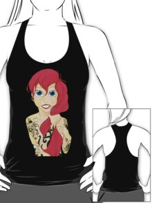Tattooed Ariel (cutout) - pink hair T-Shirt