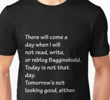 Read, Write, or Reblog Bagginshield Unisex T-Shirt