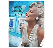 "Fantasy in White ""Happy Birthday"" ~ Greeting Cards and More Poster"