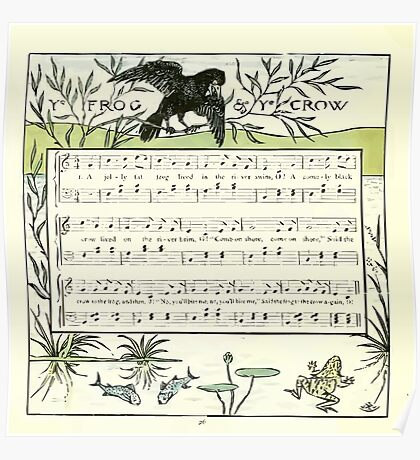 The Baby's Opera - A Book of Old Rhymes With New Dresses - by Walter Crane - 1900-30 Ye Frog and Ye Crow Poster