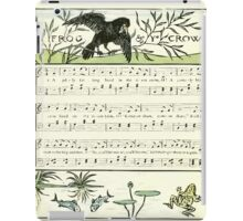 The Baby's Opera - A Book of Old Rhymes With New Dresses - by Walter Crane - 1900-30 Ye Frog and Ye Crow iPad Case/Skin