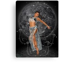 Diana .. moon goddess Canvas Print
