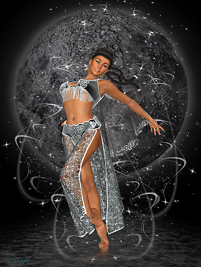 Diana .. moon goddess by LoneAngel