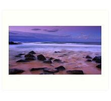 Autumn Beach Sunset  Art Print