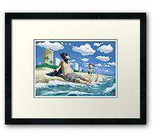 Bat-guy on vacation Framed Print