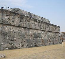 Pyramid of Quetzalcoatl, Xochicalco, Morelos, Mexico by Allen Lucas