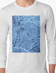 Snow on branches Long Sleeve T-Shirt