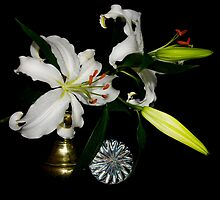 Fresh Lilies and Old Brass by IrishShop