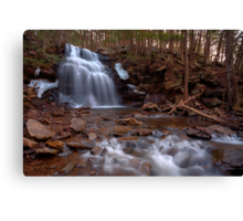Winter Ice Remains at Dutchman Falls Canvas Print