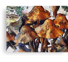 Mushrooms to Gogh Canvas Print