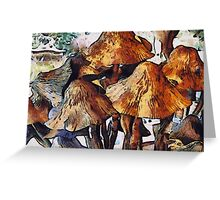 Mushrooms to Gogh Greeting Card