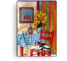 ITALIAN KITCHEN IN FLORENCE Canvas Print