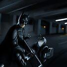 Bat-guy scene by OscarEA