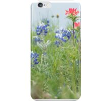 Blue Bonnets with Indian Paintbrush iPhone Case/Skin