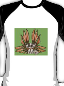 Steampunk Grey Tabby Cat Fairy art T-Shirt