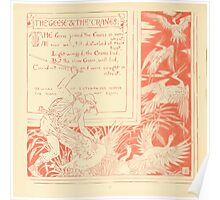 The Baby's Own Aesop by Walter Crane 1908-44 The Geese and the Cranes Poster