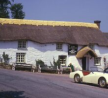 """Ouside """"Ye Olde Punch Bowl & Ladle"""" Near Truro, England. by Peter Stephenson"""