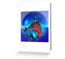Travelling in space. Greeting Card