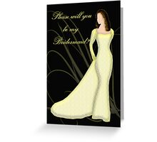 Will you be my Bridesmaid, wedding invitation card Greeting Card