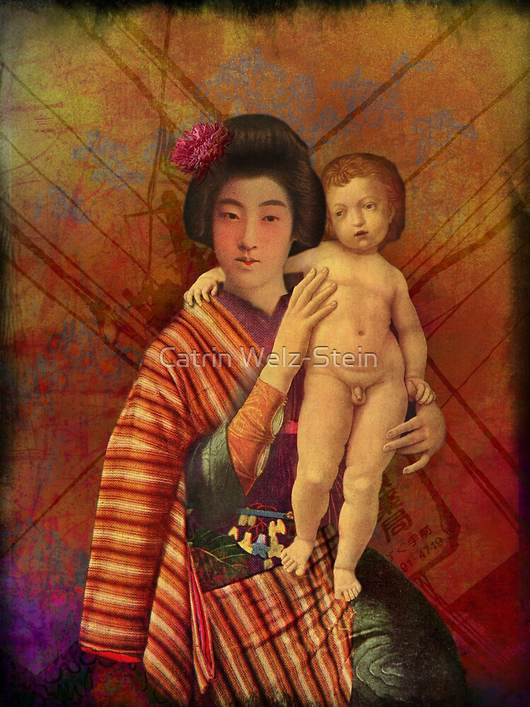 Mother and son by Catrin Welz-Stein