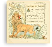 The Baby's Own Aesop by Walter Crane 1908-17 A Frightened Lion Canvas Print