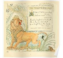 The Baby's Own Aesop by Walter Crane 1908-17 A Frightened Lion Poster