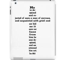 ISAIAH 53:3 cross iPad Case/Skin