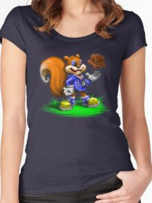 A Squirrel's Comeback Women's Fitted Scoop T-Shirt