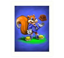 A Squirrel's Comeback Art Print