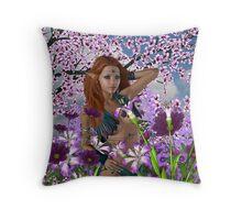 Among The Flowers III Throw Pillow