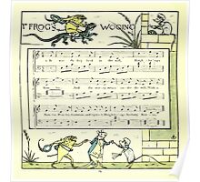 The Baby's Opera - A Book of Old Rhymes With New Dresses - by Walter Crane - 1900-28 Ye Frog's Wooing Poster