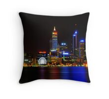 City of Lights - Perth Throw Pillow