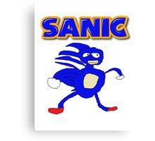 Sega Sanic Hedgehog  Canvas Print