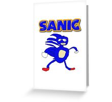 Sega Sanic Hedgehog  Greeting Card