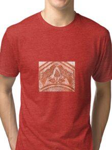 Love Birds on a Poppy Tri-blend T-Shirt