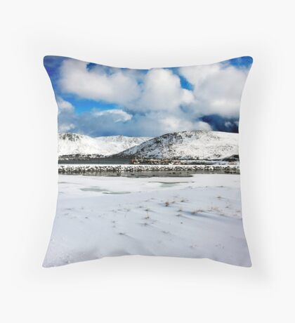 a little piece of heaven on earth, Norway Throw Pillow