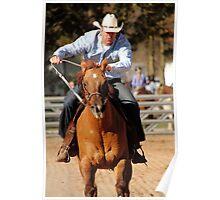 Pole Bending Horse Poster
