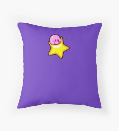 Kirby star Throw Pillow