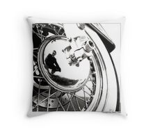 """Axis of Biker II"" Throw Pillow"