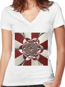 Reflections of Complexity Women's Fitted V-Neck T-Shirt